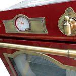 Kaiser Empire Four électrique encastrable 60 cm, autoportant, bordeaux / Fabricant de luxe Kaiser / 67 litres / Four encastré avec boutons de commande, poignées de porte et moulures en métal solide / Four encastré avec système de nettoyage par catalyse / Four avec chauffage haut/bas, grille infrarouge, 8 fonctions et rôtissoire / Foyer avec triple vitrage / Table de recette (français non garanti)