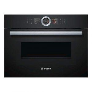 Bosch Four colonne micro-ondes noir 45 L, 12 programmes