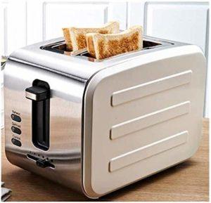 2, 2 Toasters fente large petit pain en acier inoxydable, Accueil Grille-pain, machine, amovible Tiroir ramasse-miettes, Gris lxhff (Couleur: Vert) KaiKai (Color : White)
