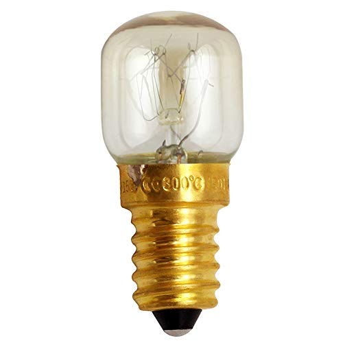 Ampoule de four, ampoule à sel avec bouchon à vis E12 E14, ampoule à incandescence résistante à la chaleur pour réfrigérateur avec four micro-ondes, 300 ℃