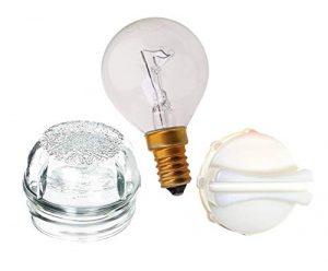Ampoule de rechange en verre pour four Bosch, Neff et Siemens avec couvercle et outil de démontage