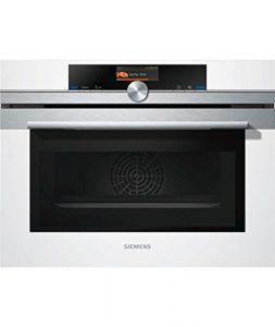 CM636GBW1 SIEMENS Fours compacts 45 cm 13 modes de cuisson – micro-ondes 1000 W – ecoClean – cookControl Plus – éclairage LED
