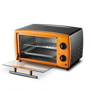 DULPLAY 12L Mini Minifour,Meilleure Convection,Comprend la Lèchefrite, Grille de Lèchefrite Four de comptoir Acier INOX Poli Toast Accueil Cuisine-A 36.9×29.6×21.4cm(15x12x8inch)
