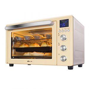 Four domestique 32L avec réglage de la température 0-230°C et minuterie intelligente Four 1500W en verre à trois couches
