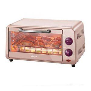 Four domestique Mini 10L avec réglage de la température 0-230°C et 0-30min Temps de cuisson Four multifonction à double vitrage 800W
