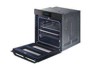 Four encastrable pyrolyse Samsung NV75N5671RMEF – Four multifonction Chaleur tournante ou pulsée / 75 litres/Classe A+ / Noir/Double cavité/Rails télescopiques/Porte froide (4 vitres)