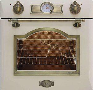 Kaiser Empire Four nostalgique exclusif / Four électrique autonettoyant de 67 L / Four encastré avec rôtissoire, table de cuisson et triple vitrage / Four avec chauffage haut/bas, grille, 8 fonctions, EH 6355 ElfEm