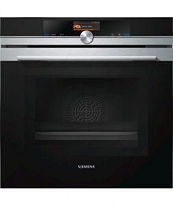 Siemens HM676G0S2F four Noir, Acier inoxydable – Fours (3650 W, Noir, Acier inoxydable, Boutons, Électronique, 1,2 m, TFT)