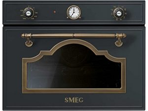 Smeg sf475 0mcao Compact Four À Micro-Ondes Anthracite micro-ondes Four Encastrable