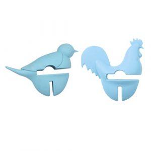 UPKOCH 2 Pcs Anti-Éclaboussures Couvercle Lifter Mignon Poussin Et Oiseau Forme Silicone Couvercle Poussoirs Anti-Déversement Bouchon pour Pot de Soupe (Couleur Aléatoire)