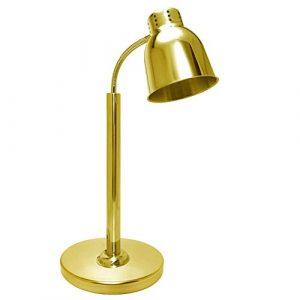 ZGDJZM Lampe de Conservation de la Chaleur Alimentaire, Lampe de Conservation de la Chaleur de Chauffage en Acier Inoxydable, température réglable, Fournitures de cafétéria d'hôtel,Dimmablegold