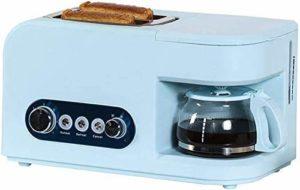 Petit-déjeuner Station 2-en-1 multifonction Cafetière avec bouilloire électrique Grille-pain machine en acier inoxydable Four Egg Plaque de cuisson antiadhésif Pot 7 Gear, lxhff Blanc (Couleur: Bleu)