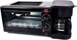Retro 3-In-1Breakfast station Maker Multi-Function Center Grille-pain électrique famille Cafetière avec bouilloire machine en acier inoxydable Four avec calage 30min Egg crêpière antiadhésifs Pot lxhf