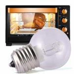SHOH Lampe de four 500 ° 40 W E27 Clair Ampoule à filament Machine à Coudre de Sel Blanc Chaud Dimmable Convient pour différents four à micro-ondes