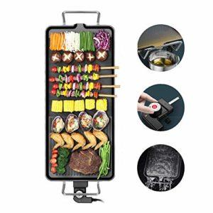 Bonheur Grille pour Barbecue Réglable Thermostat Drip Tray Easy Clean Antiadhésif Plaque pour Camping Extérieur Cuisine Randonnée Picnic Backyard Médium