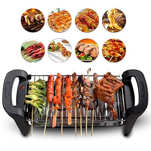 Bonheur Grille pour barbecue sans fumée Économie d'énergie Pigro Couverture Four Poisson à la grille Non-charbon de bois Grille pour barbecue noir