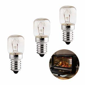 3 Pack Ampoules Four E14, Ampoule Four 25W 300 Degres E14, Ampoule de Four Blanc Chaud 2700K, 230V