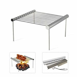 ZNQPLF Barbecue Pliable en Acier Inoxydable Grill Rack Portable Camping Mini Grille for Barbecue Barbecue Accessoires for La Maison Et Une Utilisation en Extérieur (Color : White)