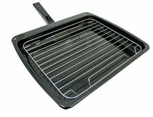 Spares2go Poêle grill avec poignée et grille pour four Lamona 385 x 320 mm