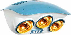 XYSQWZ Ampoule Infrarouge À Trois Cœurs 825w Yuba Petit Radiateur Électrique Étanche Mural sans Ventilateur Protection des Yeux Installation Rapide sans Poinçonnage 220v