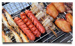 KEKEYANG Barbecue Griller Panier, Moule épaissie en acier inoxydable rack Barbecue Accessoires Barbecue Outils Accessoires séchage Fournitures net rack Extérieur
