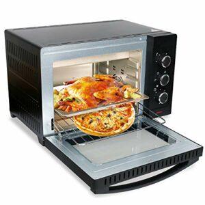 Mini four Vingo – 30 litres – Avec chaleur tournante – 1600 W – Éclairage intérieur – Grille et plaque de cuisson – Minuteur