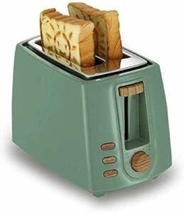 Pain automatique en acier inoxydable machine électrique multifonction 2 tranches Grille-pain Petit-déjeuner Grill Maker Sandwich Toast machine à pain de ménage Grille-pain, Bleu, Vert 8bayfa