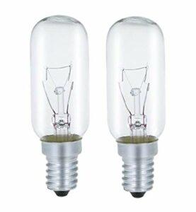AcornSolution Lot de 2 ampoules de hotte 40 W, culot E14, T25, 240 V AC, convient également pour les fours [Classe énergétique E]