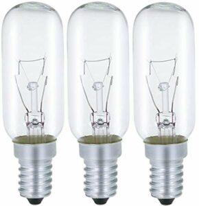AcornSolution Lot de 3 ampoules de hotte 40 W, culot E14, T25, 240 V AC, convient également pour les fours [Classe énergétique E]
