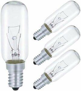 AcornSolution Lot de 4 ampoules de hotte 40 W, culot E14, T25, 240 V AC, convient également pour les fours [Classe énergétique E]