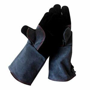 Gants de four résistant à la chaleur – Mitaines de cuisine en silicone antidérapantes pour griller/cuisson/cuisson/barbecue – 1 paire, noir