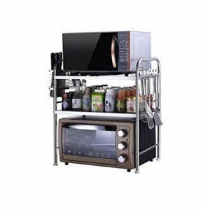 ShiSyan 3 Niveaux Cuisine Shelf Four à Trois Niveaux en Acier Inoxydable Grille du Four Rack épices Bouteille Rack ustensiles de Cuisine étagères de Rangement