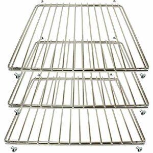 Spares2go Lot de 3 grilles universelles réglables à bras fixe compatibles avec les fours Hygena 320 mm x 360-620 mm Chromé