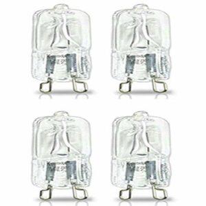 Wisson Ampoule de Four 4 pièces, Lampe halogène Durable résistante aux Hautes températures G9 pour Ventilateurs de Fours réfrigérateurs, 110V / 220V, 500 ° C, luminosité 350LM