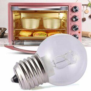 2 X Lampe De Four, Lampes Résistantes À La Chaleur E27 40W 220-240V 110-120 Lumen 500 ° C Haute Température, Ampoule Pour Four À Micro-ondes
