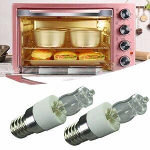 Lot de 2 ampoules de four E14 – 50 W – Culot à vis Edison – Lampe de rechange en tungstène – Résiste à la chaleur jusqu'à 300 °C – Pour four, micro-ondes, réfrigérateur (220-240 V)