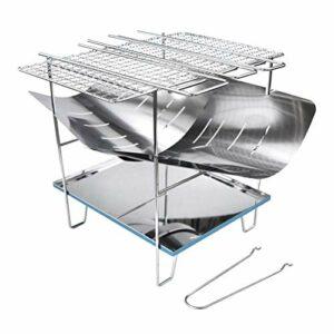 spier Barbecue pliable en acier inoxydable, grille à charbon de bois, portable, outil de camping, pique-nique pour extérieur, cuisine, voyage