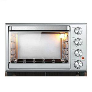 Four grille-pain 32L, fini en acier inoxydable multifonction avec minuterie – pain grillé – cuisson – grille-cuisson, convection naturelle – 1600 watts de puissance, comprend la poêle à pâtisserie et