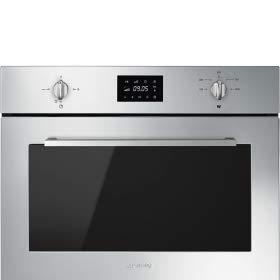 SMEG SF4401MX Four micro-ondes avec gril – 1000 W – COMPACTscreen display – compact 45 cm – 32 litres – inox finger friendly