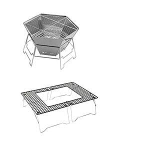 YNLRY Grille de barbecue portable en acier inoxydable pour extérieur et ménage (couleur : 7, taille : 57 x 47 x 60)