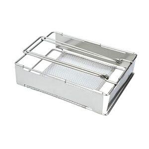 YNLRY Grille de barbecue pliable en acier inoxydable pour griller du pain ou de la viande