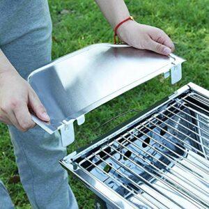 YNLRY Mini grille de barbecue portable en acier inoxydable pliable pour utilisation au parc à la maison (couleur : type 2 argenté)