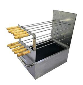 LYB Brochettes de barbecue en acier inoxydable – Accessoires de barbecue – Outil de cuisine pour la maison ou le parc – Couleur : grille de barbecue